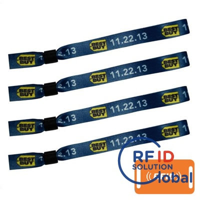 Brand Promotion Ntag213 Rfid Nfc Woven Wristband
